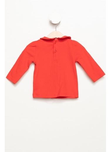 DeFacto Kız Bebek Yakalı Yılbaşı Temalı Uzun Kollu Body Kırmızı